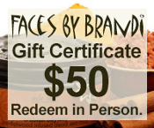$50 Gift Certificate for Faces by Brandi Products and Services
