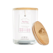 Farmhouse Fresh Pink Moon Candle with Wooden Lid