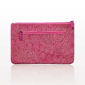 """The Paisley"" Medium Pink Clutch"