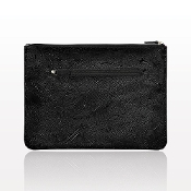 """The Paisley"" Large Black Clutch"