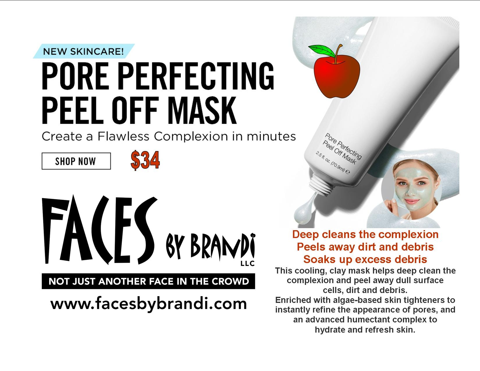 FACES by Brandi Pore Perfecting Peel Off Mask
